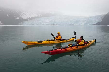 Two Sit In Kayaks
