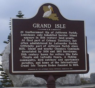 Grand Isle Plaque